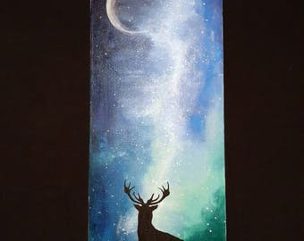 Stag Silhouette Acrylic Canvas