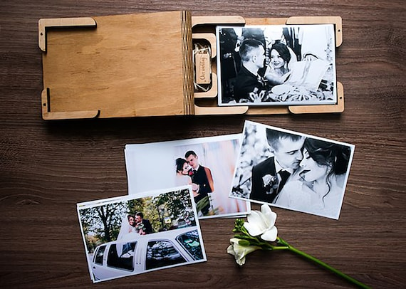 4x610x15 wood print box 4x610x15 photo box for photos