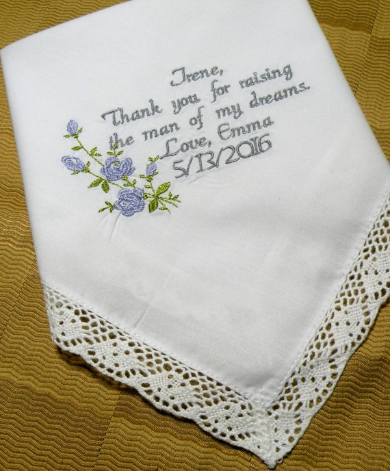 Mother In Law Gifts Wedding: Future Mother In Law Wedding Gift Personalized Embroidered