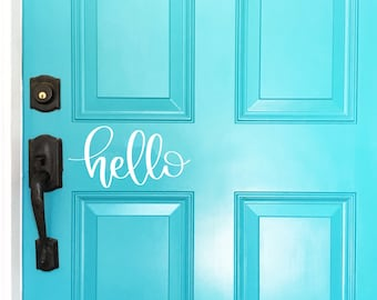 Hello Door Decal, Hello Vinyl Decal, Front Door Decal, Front Door Sign, Front Door Vinyl, Hello Vinyl Lettering, Vinyl Lettering