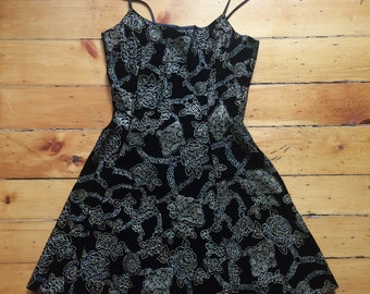 90's Vintage Dramatix Flare-out Sparkle/Glitter/Shine Dress