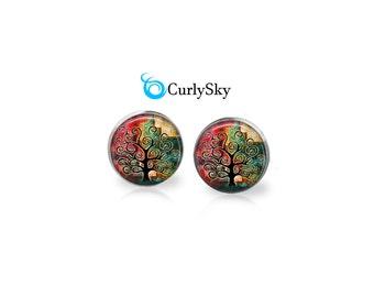 Tattered Studs Black Tree Earrings Tattered Art Studs Tattered Art Colors Tattered Art Studs Tattered Tree Studs Tattered Earrings Jewelry
