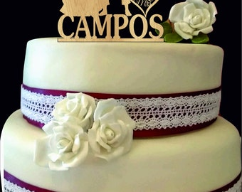 Captain America Wedding Cake Topper -  Bride and Groom Wedding Cake Topper - Custom Silhouette Wedding Cake Topper - Rustic Wedding Decor