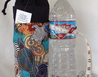 Insulated Tote sea turtle for 1.5 liter or quart-liter containers