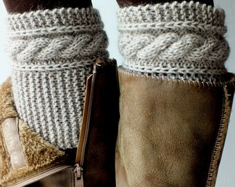 Boot Cuffs, Hand Knit Boot Cuffs Cashmere-Kidmohair Blend Yarn Choose Your Color And Size