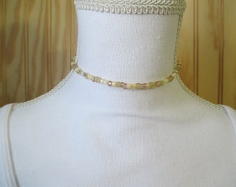 CHOKER NECKLACE/  BEADED Choker/  Dainty Choker/  Seed Bead Choker/  Dainty Necklace/  Beaded Necklace/  Gift For Her/  Beachy Choker