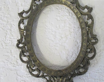 Metal Vintage ornate Frame no backing or glass made in Italy