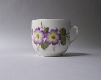 Antique Tea Cup ~ Purple Flowers ~ Petite Cup