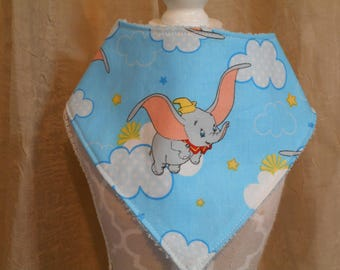 Elephant  Print Fabric Baby/Infant   Bib 0/6 Months Ready To Ship