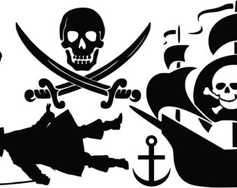 Pirate Wall Decal Set
