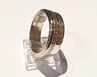Ring coin 10 German silver (coin ring)