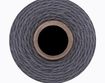 Solid Grey Colored Divine Twine BakersTwine by Whisker Graphics - 240 yard spool