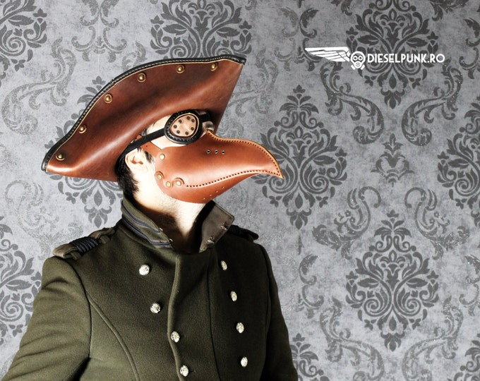 Pirate Hat - Steampunk Hat - Leather Hat