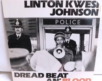 Linton Kwesi Johnson Dread Beat an' Blood - Vintage Vinyl Record Album Reggae Dub Poetry 1981 Heartbeat 01 VG+/EXC