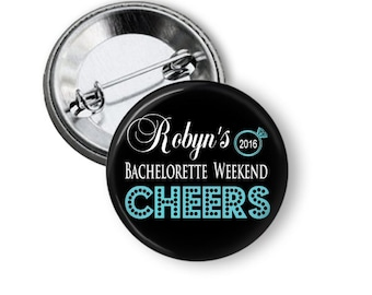 Personalized Bachelorette Party Buttons, Bachelorette Weekend, Cheers, Last Ride, Girls Night Out, Hangover, Bridal Party Pins, Hen Night