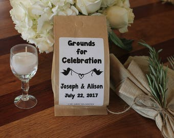 Wedding Coffee Favors - Grounds for Celebration