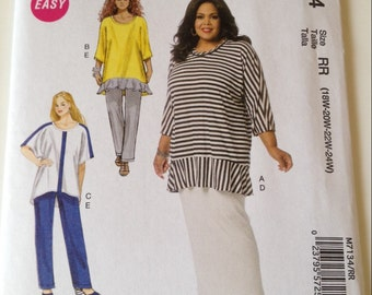 Easy McCall's M7134 Women's Plus-Size Tunic, Skirt and Pants