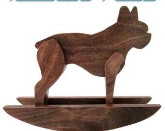 Rocking Boston Terrier - Boston Terrier Rocker - Boston Terriers - Rocking Horse - Rocking Dog - Dog Sculpture - Pet Portrait - Dog Decor