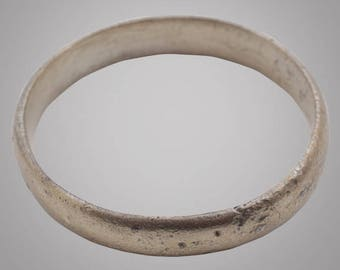 Ancient Viking Wedding Band Jewelry C.866-1067A.D. Size 11 1/4  (20.7mm)(Brr858)
