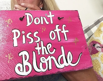 Blondie sign 8x12 hand painted by me slate