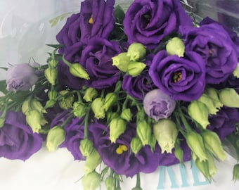 Fresh, Lisianthus, Purple Lisianthus, wedding bouquets, wedding arrangements, Fresh Bouquets