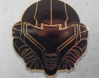 Metroid / Samus /  Variant Edition / Black and Gold / Super Metroid / Samus Aran / Hat Pin / Lapel Pin / Hard Enamel /  Pin / Lapel Geek Pin
