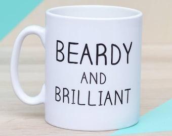 Beardy And Brilliant Ceramic Man Mug