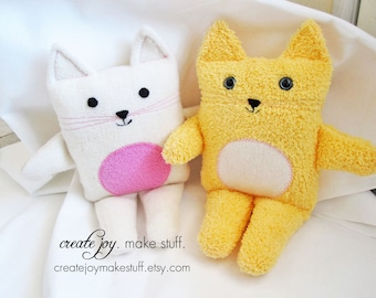 Little Cat Sewing Pattern - PDF printable - DIY - Tutorial, Easy, cloth, kitten, plush, plushie, softie, doll, stuffed, soft, toy, baby