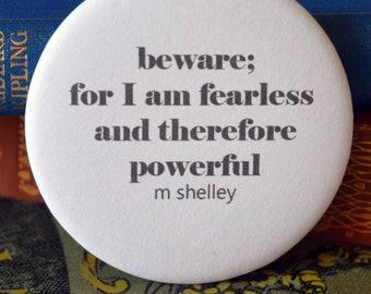 Mary Shelley Pin Badge -  Book Lovers Gift - Literatary Pin Badge