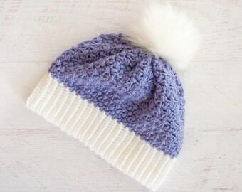 Crochet Hat Pattern | Women's Beanie Crochet Pattern | Crochet Hat Pattern for Women | Easy Crochet Beanie Pattern | PDF Pattern