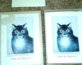 The favorite cat vintage bookplates 50 in box