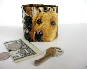 "Money Cuff Wrist Wallet- ""Secret Stash""- TAKE the DOG for a WALK - hide your cash, key in a hidden zipper."