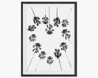 Tropical Print - Palm Tree Art Print - Eddie and The Giant Peach