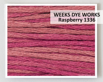 RASPBERRY 1336 Weeks Dye Works WDW hand-dyed embroidery floss cross stitch thread at thecottageneedle.com