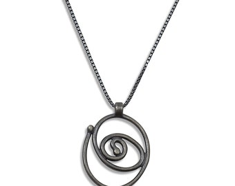 Fused Ball Spiral Necklace
