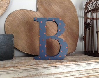 Hand-painted Wooden Letter B - Freestanding - Georgian Font - Various sizes, finishes and colours