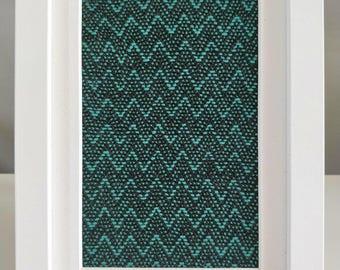 Framed Textile No. 7 - Handwoven Textile Art