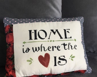 Home Is Where The Heart Is Decorative Pillow