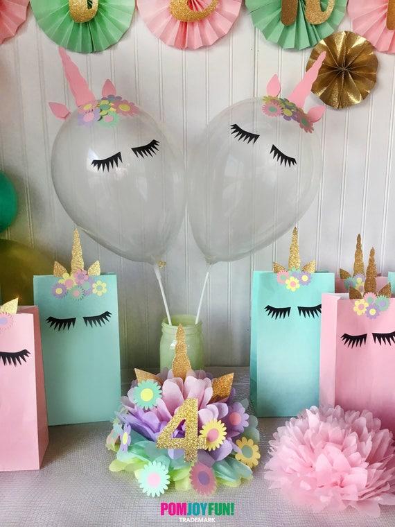Unicorn balloons set of 2 unicorn party balloons 11 inch unicorn party decor and birthday decor unicorn balloon kit