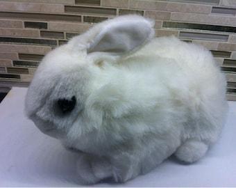 Rabbit Toy - Bunny Toy - White Rabbit Bunny Plush Toy Stuffed Animal  GANZ 1996 - Natural Bunny 15''