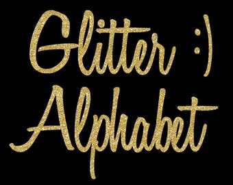 Gold Glitter Alphabet Clipart, Glitter Letters, Gold Foil Alphabet, Gold Font, Digital Alphabet, Gold Alphabet Letters, Sparkle Font