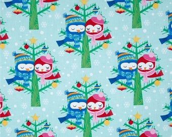 All the Trimmings Christmas Lovebirds Winter Color~ Buy More and Save ~ Michael Miller Christmas Fabric