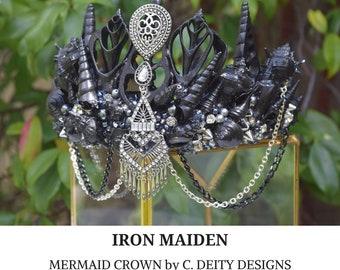 Mermaid Crown, Festival Crown, Black Shell Crown ~ IRON MAIDEN
