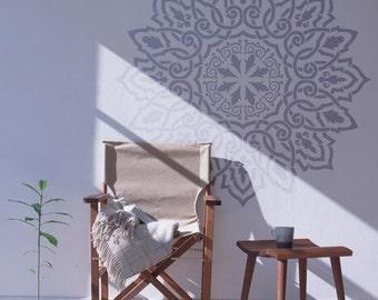 Arabic Mandala stencil, wall stencil - Mandala mural, Scandinavian wall stencil for DIY projects, large mandala - Large wall Stencil