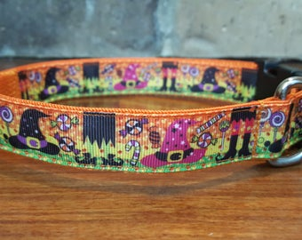 Halloween Witch Hat Dog Collar Large