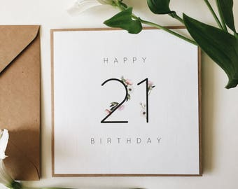 21st birthday card etsy 21st birthday card handmade birthday milestone card happy 21st birthday greetings card bookmarktalkfo Image collections