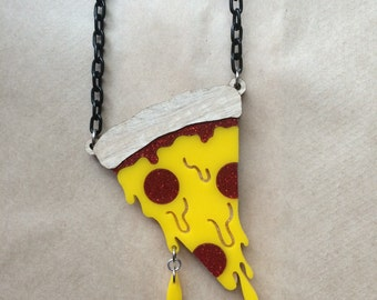 Slice of Life Pizza necklace