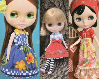 Sewing pattern lot for Blythe doll