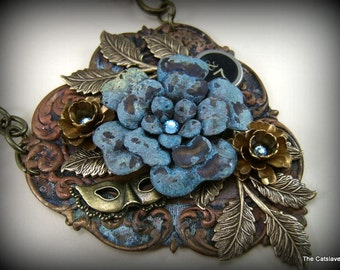 Handmade Necklace Neo Victorian The Vintage Heart Gift for Her Original Design Assemblage