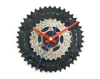 Wall Clock, Bike Clock, Bicycle Clock, Unique Clock, Cycling Decor Art, Silent Clock, Bike Gear Clock, Gift For Cyclist, Bike Gift
